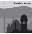 Animation Magic Turkish city of Istanbul in black vector image