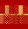 asian seamless pattern oriental golden ornament vector image