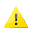 attention pictograph yellow triangle vector image