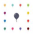 balloon flat icons set vector image