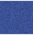 blue knitted seamless pattern vector image vector image