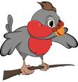 Bullfinch cartoon vector image