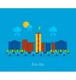 City landscape Environmentally friendly house vector image vector image