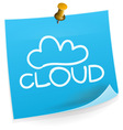 Cloud Technology Sticky Note vector image