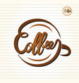 Coffee text design