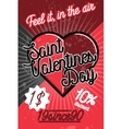 Color vintage Valentines day poster vector image vector image