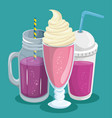 colorful beverages design vector image vector image