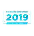 congratulations graduates logo graduation vector image vector image