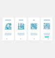 dna chromosome research biotechnology ux ui vector image vector image