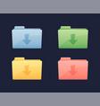 download data folder icon folder vector image vector image