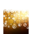 Elegant Gold Christmas Background EPS 8 vector image vector image