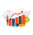 financial investment growth concept business vector image
