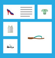 flat icon dress set of singlet heeled shoe vector image vector image