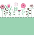 flowers illustration vector image vector image