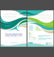 flyer template with waved stripes vector image vector image