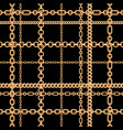 gold chains seamless pattern vector image