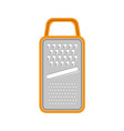 grater icon isolated on white vector image