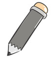 gray pencil on white background vector image vector image