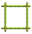 Green bamboo frame isolated on white vector image vector image