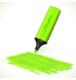 Green marker with drawn spot vector image vector image