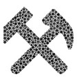 hammers mosaic of dots vector image