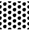 hand drawn polka dot background with round brush vector image vector image