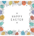 Happy easter card with hand drawn ornamental eggs