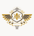 heraldic sign made using vintage elements eagle vector image vector image