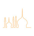 isolated mosque outline vector image vector image