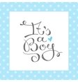 its a boy text vector image vector image
