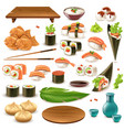 japanese food set vector image