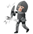 knight with shield and sword vector image vector image