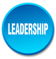 leadership blue round flat isolated push button vector image vector image