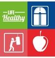 life healthy design vector image vector image