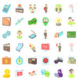 media market icons set cartoon style vector image vector image