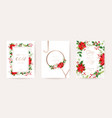 merry christmas happy new year 2021 cards floral vector image vector image