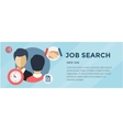 New Job Search infographic Labor Office Loupe vector image vector image