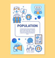 population poster template layout banner booklet vector image vector image