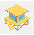rescue tower isometric icon vector image vector image