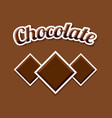 retro chocolate on brown background vector image