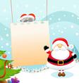 Santa Message vector image vector image