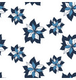 seamless blue flowers pattern on white background vector image