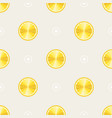 seamless pattern with lemons slices of lemon on vector image vector image