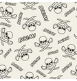 Seamless texture with skulls vector image vector image