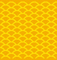 seamless yellow wavy pattern from golden coins vector image vector image