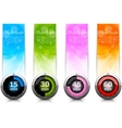 Set of banners with timers vector image vector image