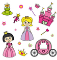 Set of stickers of princesses vector | Price: 1 Credit (USD $1)