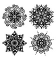set simple mandalas for coloring floral concept vector image vector image