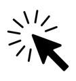 sign cursor a computer mouse vector image vector image