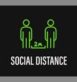 social distance coronavirus protection campaign vector image